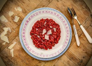 SLow Cooked Beetroot Orzotto