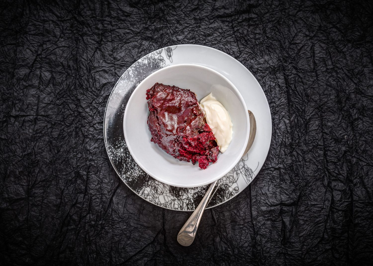 Slow Cooked Red Velvet Pudding